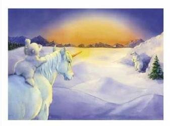 Unicorn and Polar Bear Cub IV - reprodukcja