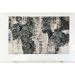 KARE Design :: Dywan Kelim Ornament Turquoise 240x170 cm - szary
