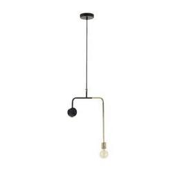 Lampa sufitowa whoa złoto-czarna wys. 54 cm
