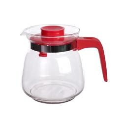 Dzbanek do herbaty, kawy, wody i soku szklany altom design 1 l czerwony
