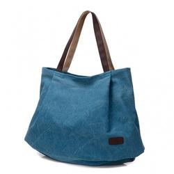 Bardzo duża torebka  worek niebieska