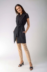 Czarna elegancka kamizelka o wydłużonym kroju