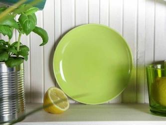 Talerz deserowy porcelanowy altom design monokolor zielony  limonkowy 19 cm