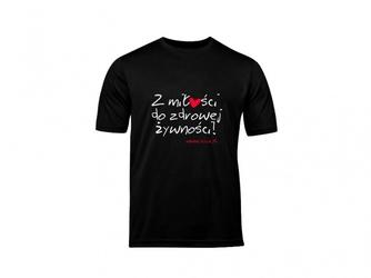 T-shirt xl damski czarny napis zmdzż