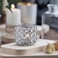 Świecznik ozdobny z kryształkami na tealight  podgrzewacze altom design 8 cm