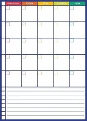 Tablica suchościeralna plan tygodnia z notatnikiem 274
