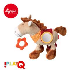 SIGIKID Przytulanka aktywizująca Koń z gryzakiem, lusterkiem, piszczałką, obręczami i szeleszczącą folią 6m+ PlayQ