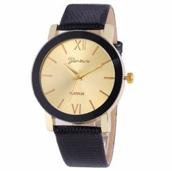 Zegarek stylowy czarny złoty