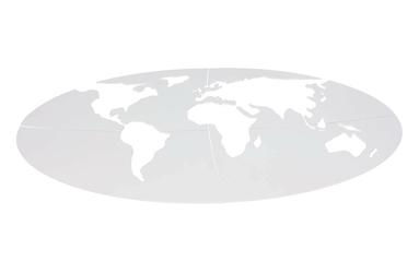 Dekoracja ścienna kontynenty