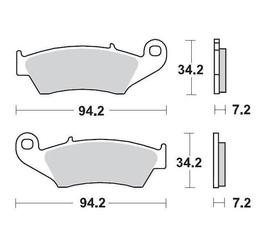 Klocki hamulcowe kh185  kh389 metaliczne: 12 honda: cr 125-250-500, crf 450, xr 400-600-650r, k moto-master m093412