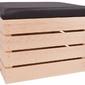 Pufa drewniana schowek skrzynka kuferek siedzisko niemalowane - 25 wzorów