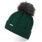 Zielona czapka damska na zimę z pomponem cz24 brodrene