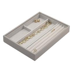 Pudełko na biżuterię 4 komorowe classic Stackers taupe