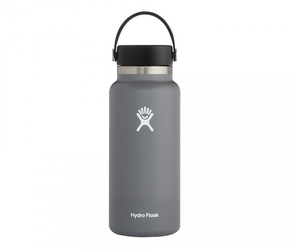 Termos hydro flask wide mouth 2.0 flex cap 946 ml stone - grafitowy vsco