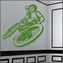 naklejka ścienna rower, bmx bk14