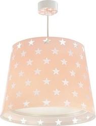 Lampa sufitowa zwis różowa w gwiazdki