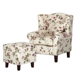 West fotel tapicerowany z pufą
