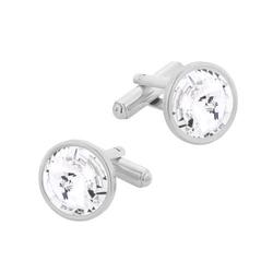 Spinki do mankietów z kryształami swarovski srebro pr. 925 003 sp