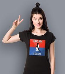 Nowy rok - stara ja t-shirt damski czarny xs