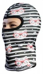 Ocieplana dziecięca kominiarka termoaktywna 3d - kotki w okularach snow