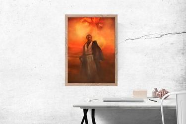 Obi wan kenobi - plakat premium wymiar do wyboru: 30x40 cm