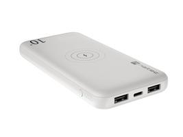 Natec power bank extreme media trevi 10000mah wireless 10w biały