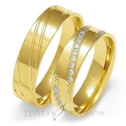 Obrączki ślubne złoty skorpion – wzór au-o138