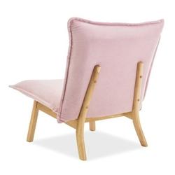 Fotel bolton różowy welur