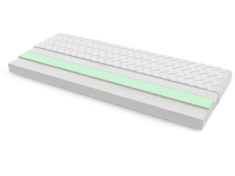 Materac piankowy salerno max plus 70x230 cm średnio twardy visco memory