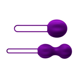 Sexshop - nomi tang intimate kegel set - zestaw kulek do ćwiczeń mięśni kegla fioletowy - online