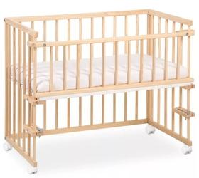 Dostawne łóżeczko na kółkach piccolo due 90x45 sosna