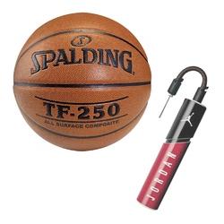 Piłka spalding tf-250 indooroutdoor do koszykówki + pompka air jordan essential