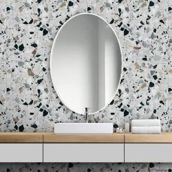 Gieradesign :: lustro skandynawskie scandi slim owalne białe 40x60 cm