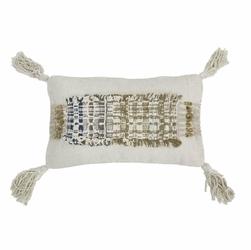 HK Living :: Poduszka wabi sabi z frędzlami wykonana z bawełny 70x40