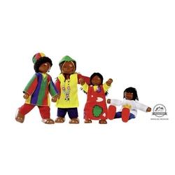 Afrykańska rodzinka drewniane laleczki
