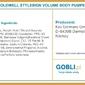 Goldwell volume body pumper, lekka pianka unosząca włosy u nasady 150ml