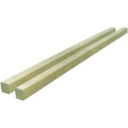 Vidaxl słupki ogrodzeniowe, 2 szt., impregnowana sosna, 7x7x150 cm