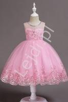 Cukierkowo różowa sukienka dla małej druhny, wieczorowa sukienka dla dziewczynki 561