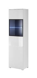 Witryna wąska Sirco biała połysk + LED bez LED