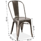 Krzesło porto loftowe stal szczotkowana