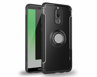 Etui Alogy pancerne Huawei Mate 10 Lite Ring czarne + szkło