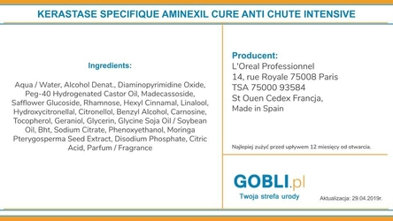 Kerastase specifique aminexil gl kuracja pobudzająca wzrost włosów 42x6ml