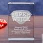 Odznaka 3d »super wujek« • personalizowana statuetka 3d • grawer 3d