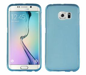 Etui silikonowe FLEXmat do Samsung Galaxy S6 edge Niebieskie - Niebieski
