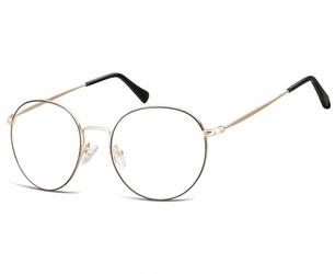 Lenonki okrągłe okulary oprawki optyczne 915 złoto-czarne