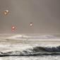 Fototapeta windsurfing widziany z brzegu FP 1197