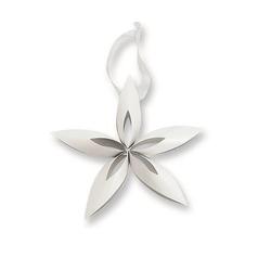 Ozdoba choinkowa gwiazdka STELLA, biała L