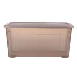 Pojemnik  organizer do przechowywania i na pościel modułowy tontarelli combi box z pokrywką arianna taupe 43 l