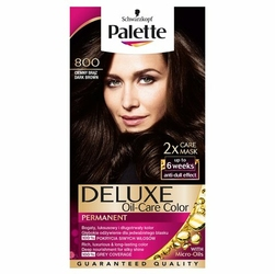Palette, Deluxe, farba do włosów, 800 Ciemny Brąz