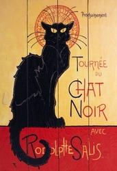 Chat noir - obraz na drewnie